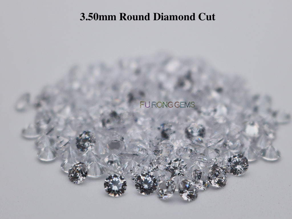 White-Clear-Color-Loose-CZ-Round-Diamond-cut-3.5mm-gemstones-for-sale