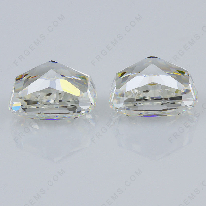Crushed Ice Cut Lightest Yellow KLM color Elongated cushoin shape Loose Cubic Zirconia Gemstones Wholesale