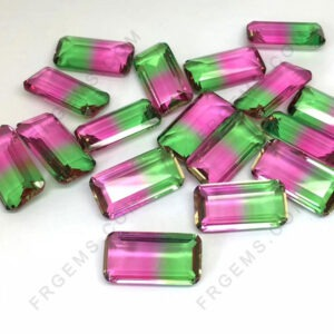 Synthetic-Watermelon-Tourmaline-BiColor-Gemstones-Supplier-China