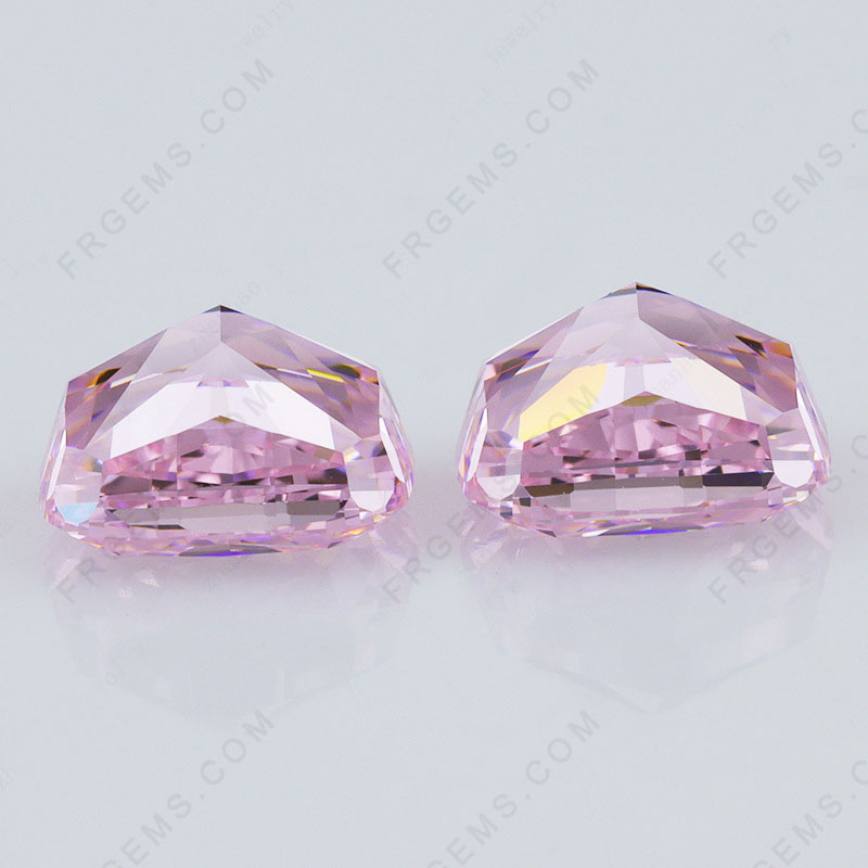Crushed Ice Cut Light Pink Color Loose Cubic Zirconia Gemstones China Wholesale and Supplier