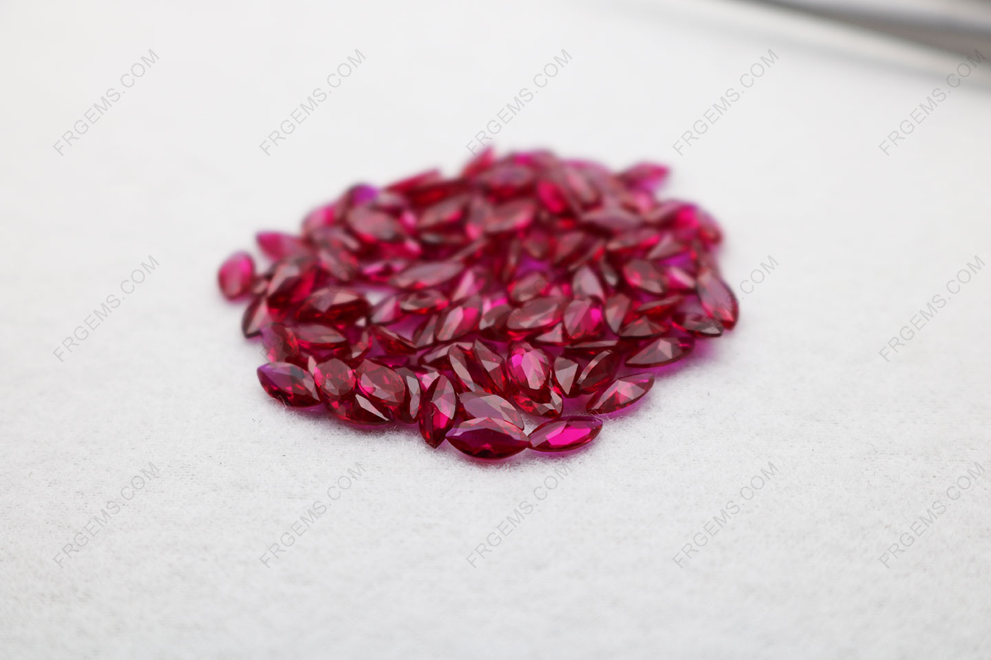 Loose Synthetic Lab Corundum Ruby Red dark 8# Marquise Shape Faceted Cut 3x6mm stones IMG_5077