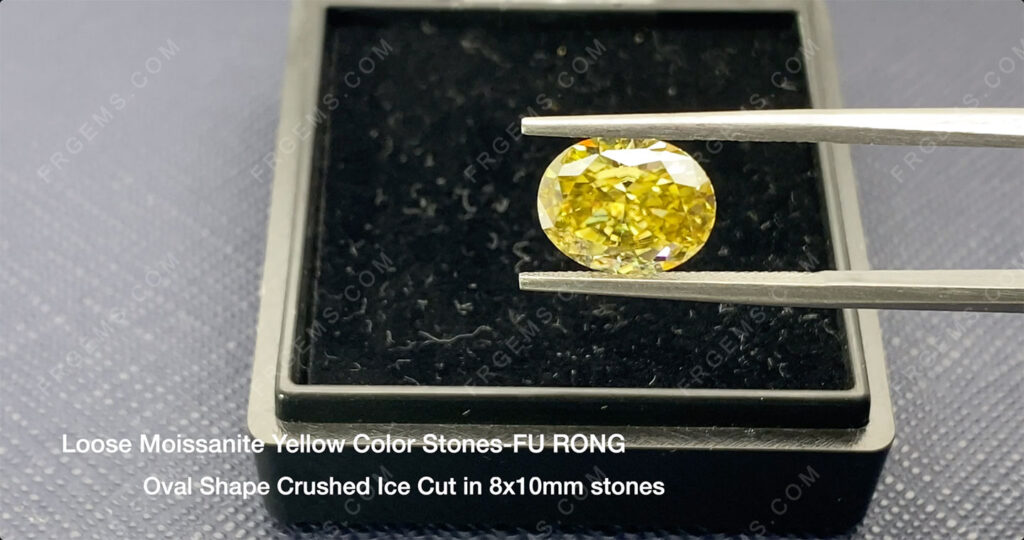 Yellow-Color-Moissanite-Oval-shape-crushed-ice-cut-10x8mm-gemstone-wholesale-from-china-supplier